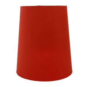 Burnt Orange Cotton Tall French Drum Lampshade