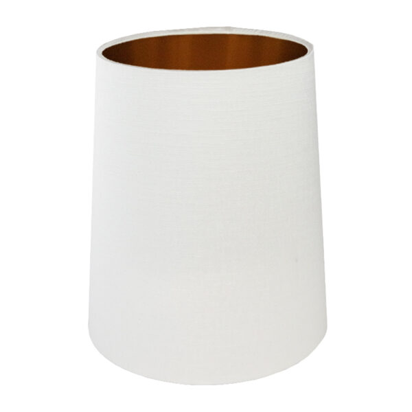 Ivory Satin Tall French Drum Lampshade