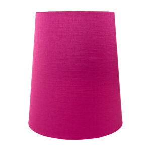 Pink Satin Tall French Drum Lampshade