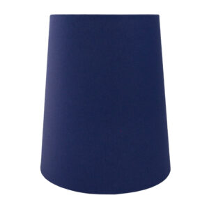 Regal Blue Cotton Tall French Drum Lampshade