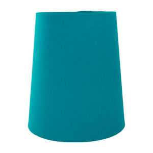 Teal Cotton Tall French Drum Lampshade