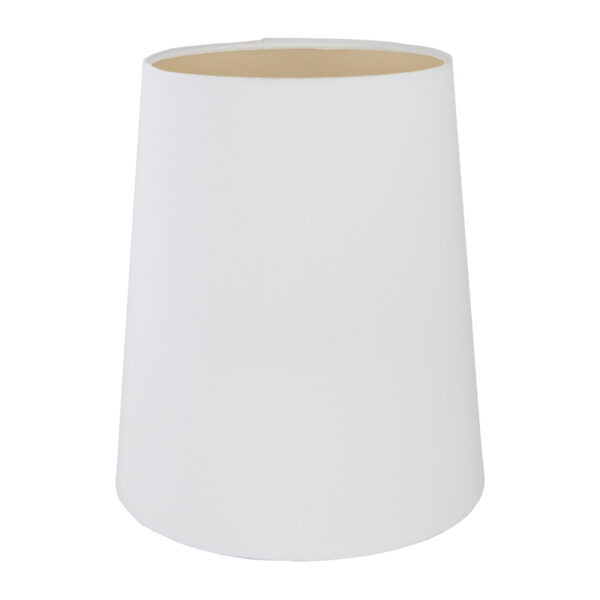 White Cotton Tall French Drum Lampshade