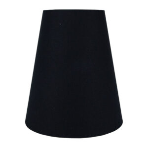 Black Cotton Tall Empire Lampshade