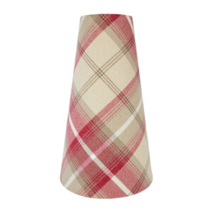 Balmoral Cranberry Tall Tapered Lampshade