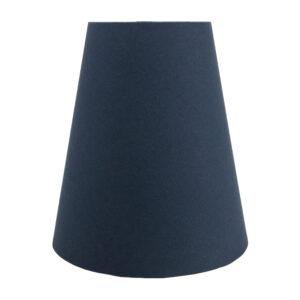 Dark Navy Blue Cotton Tall Empire Lampshade