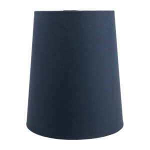 Dark Navy Blue Cotton Tall French Drum Lampshade