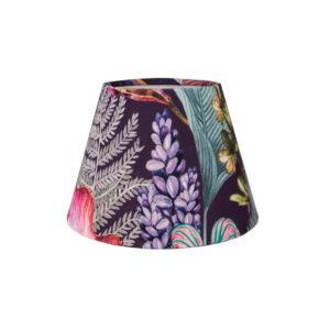 Oasis Aubergine Floral Velvet Empire Lampshade