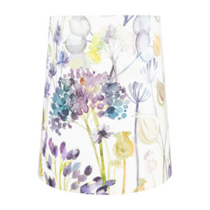 Voyage Hedgerow Blue Tall French Drum Lampshade