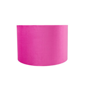 Hollyhock Velvet Drum Lampshade