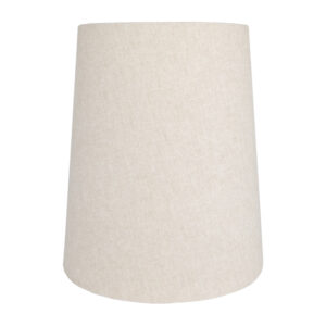 Light Beige Cotton Tall French Drum Lampshade