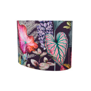 Oasis Aubergine Velvet Oval Lampshade