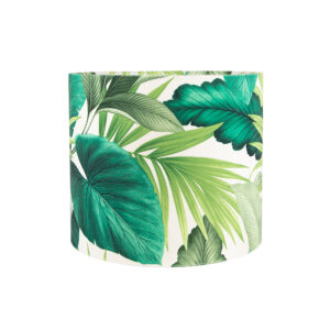 Palm Velvet Drum Lampshade