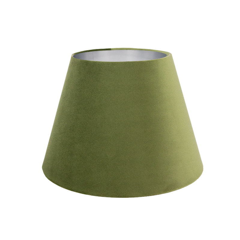 Sage Velvet Empire Lampshade, Sage Color Lamp Shades
