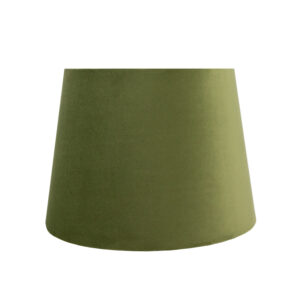 Sage Velvet French Drum Lampshade