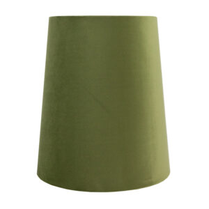 Sage Velvet Tall French Drum Lampshade