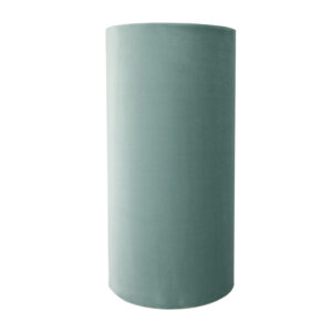 Seafoam Velvet Tall Drum Lampshade