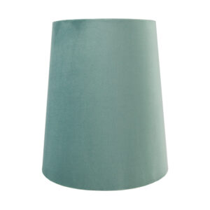 Seafoam Velvet Tall French Drum Lampshade