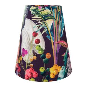 Oasis Aubergine Floral Velvet Tall Empire Lampshade