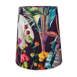 Oasis Aubergine Velvet Tall French Drum Lampshade