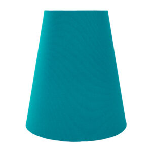 Teal Cotton Tall Empire Lampshade