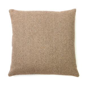 Beige Herringbone Square Cushion