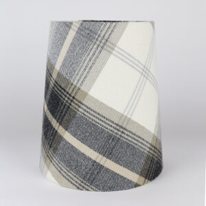 Balmoral Charcoal Tall French Drum Lampshade