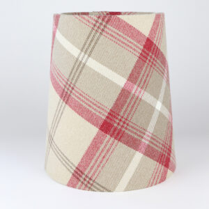 Balmoral Cranberry Tall French Drum Lampshade