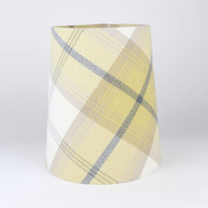 Balmoral Ochre Tall French Drum Lampshade