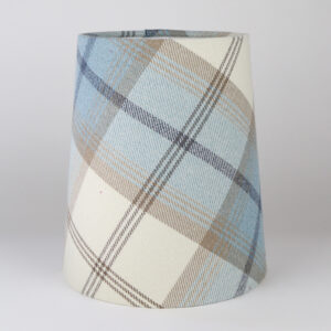 Balmoral Sky Blue Tall French Drum Lampshade