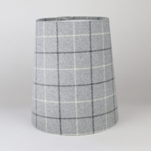 Bamburgh Dove Grey Tall French Drum Lampshade