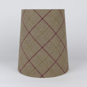 Bamburgh Heather Tall French Drum Lampshade