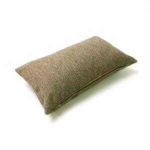 Beige Herringbone Rectangular Cushion