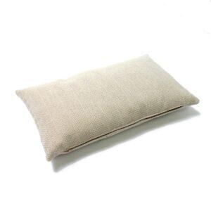 Cream Herringbone Rectangular Cushion