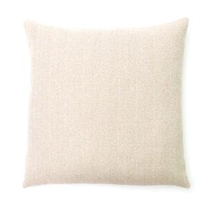 Cream Herringbone Square Cushion