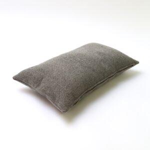 Light Grey Herringbone Rectangular Cushion