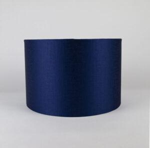 Midnight Blue Satin Drum Lampshade