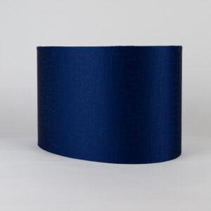 Midnight Blue Satin Oval Lampshade